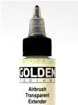 Airbrush transparent EXTENDER 30ml - GOLDEN - High Flow
