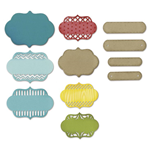 SIZZIX THINLITS DIE SET - ORNATE LABELS, 8,26CM X