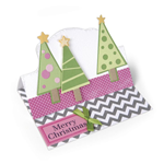 SIZZIX TRIPLITS SET- CHRISTMAS TREES, 4,45X8,57CM-