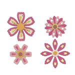 SIZZIX THINLITS SET- FLOWERS, 0,65X0,65CM-5,08X5,0