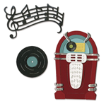 SIZZIX THINLITS DIE SET - JUKE BOX MUSIC, 5,72 CM