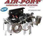 AIR-PORT AIRBRUSH WORK STATION MAGNETIC / BOLT-ON