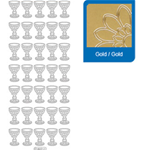 Sticker Calice Comunione  oro     892/O