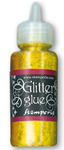 Glitter glue 40 ml. - oro giallo